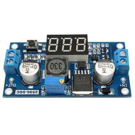 LED - DC-DC Spannungsregler LM2596S Step-Down Regler einstellbar rmit LED Voltmeter