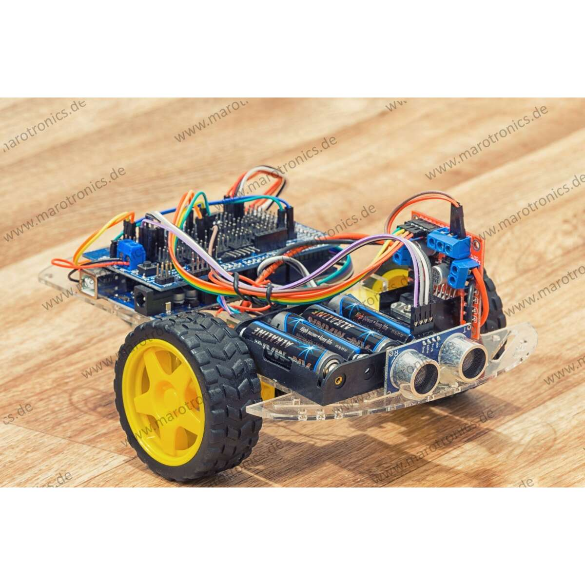 mini ardumower starter kit 2wd plattform f r arduino roboter mit. Black Bedroom Furniture Sets. Home Design Ideas