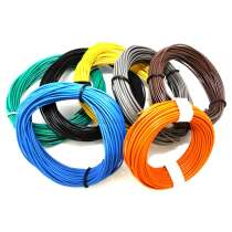 Insulated copper wire 10M 1x0.14mm different colors